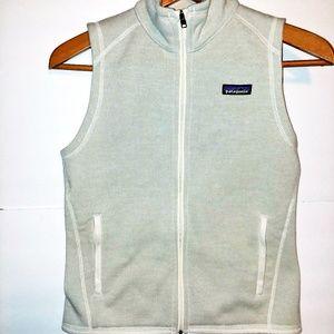 Patagonia Women's Full Zip Vest Cream Sz Small